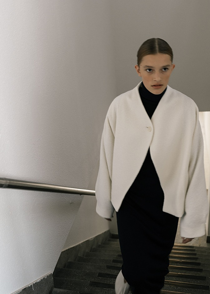 917 Over-sized Wool Jacket (Ivory)