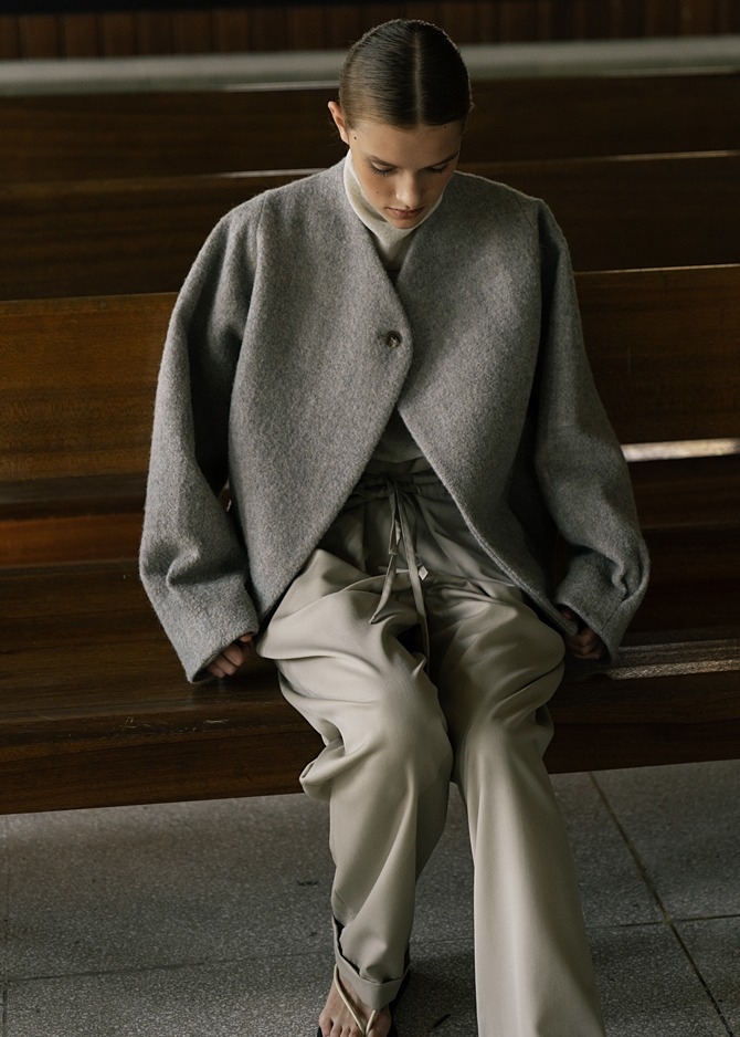 917 Over-sized Wool Jacket (Gray)