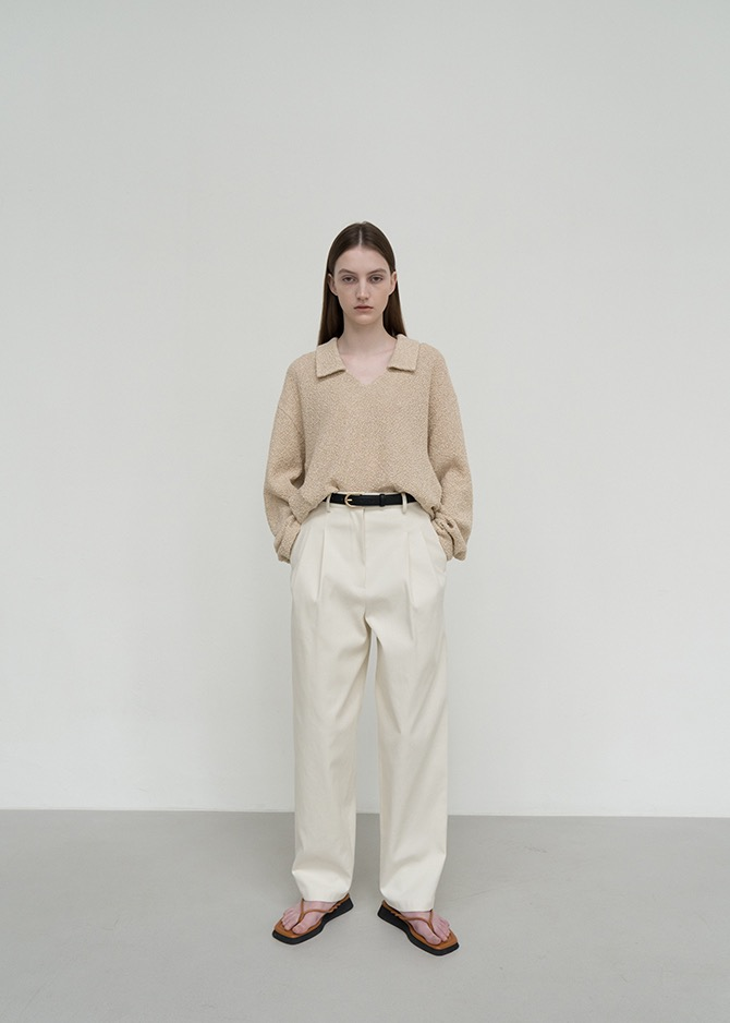 917 Classic Leather Belted Pants