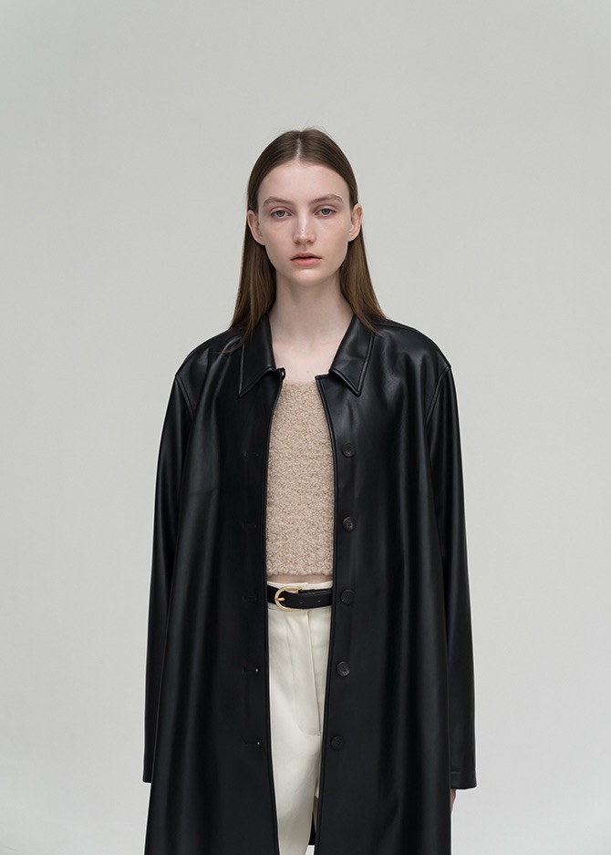917 Vegan Leather Half Coat